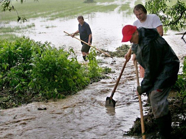 Blesková povodeň na Litovelsku - Bílá Lhota