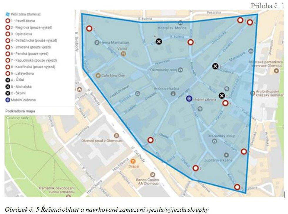 Centrum Olomouce se má změnit na plnohodnotnou pěší zónu.