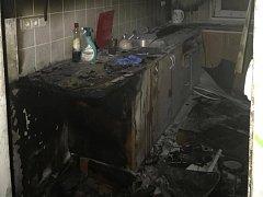 Myčka na nádobí způsobila požár v panelovém bytě na olomouckém sídlišti Lazce