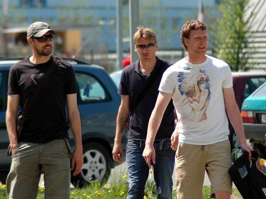 Zleva Michal Ordoš, Marek Heinz a Martin Blaha