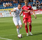 Slovácko (v bílých dresech) proti Sigmě Olomouc
