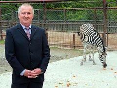 Ředitel Zoo Olomouc Radomír Habáň
