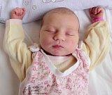 Ludmila Hůlková, Věrovany, narozena 2. dubna v Olomouci, míra 50 cm, váha 3520 g
