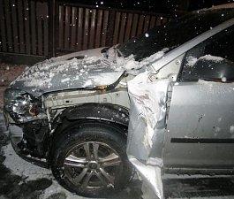 Nehoda v Jívové ulici směrem z Lipiny na Šternberk