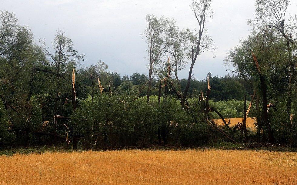 Bohuslavice - tornádo. Následky bouřky 1.7.2019