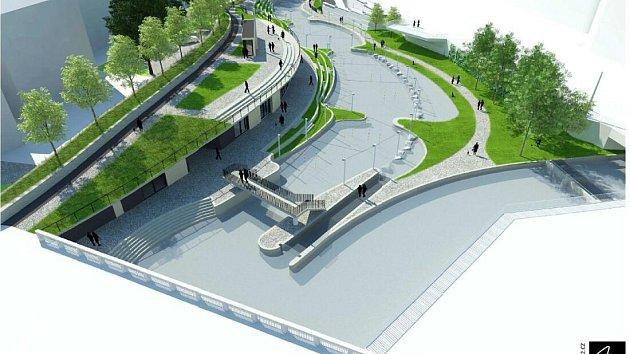 Nová studie vodáckého kanálu u OC Šantovka v Olomouci