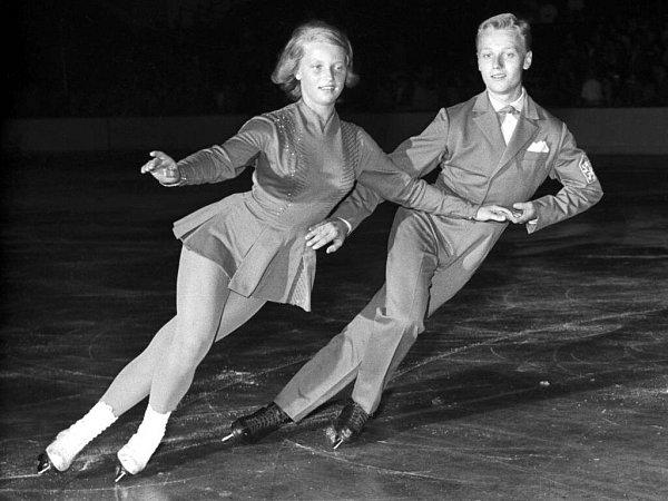 Eva Romanová a Pavel Roman na tréninku vroce 1961