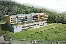 Vizualizace nového čtyřhvězdičkového hotelu v areálu v Dolní Moravě