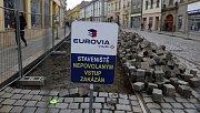 Začala oprava třídy 1.máje v Olomouci