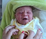 Rozálie Motyková, Břidličná, narozena 17. července ve Šternberku, míra 50 cm, váha 3430 g