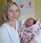 Zuzana Novotná, Přáslavice, narozena 15. ledna v Olomouci, míra 51 cm, váha 4050 g.