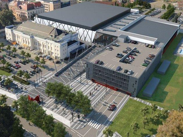 Vizualizace Městské haly Olomouc