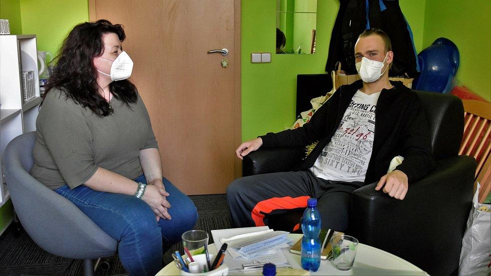 Krajská koordinátorka pro mladé Andrea Snášelová a Denis z Přerova
