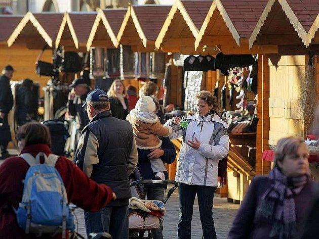 Vánoční jarmark na Horním náměstí v Olomouci