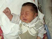 Jakub Kubilka, Uničov, narozen 10 října ve Šternberku, míra 48 cm, váha 2900 g