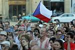 Demonstrace za nezávislost české justice a proti Andreji Babišovi v Olomouci - 11. 6. 2019