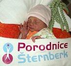 Markéta Schreierová, Uničov, narozena 12. dubna ve Šternberku, míra 41 cm, váha 1970 g