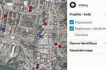 Aplikace Investiční web města