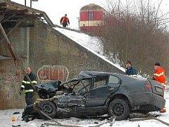 Octavii smetl vlak na přejezdu v Bohuňovicích