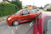 Dopravní nehoda se stala ve středu po 18. hodině na tříramenné křižovatce s ulicí 1. máje.