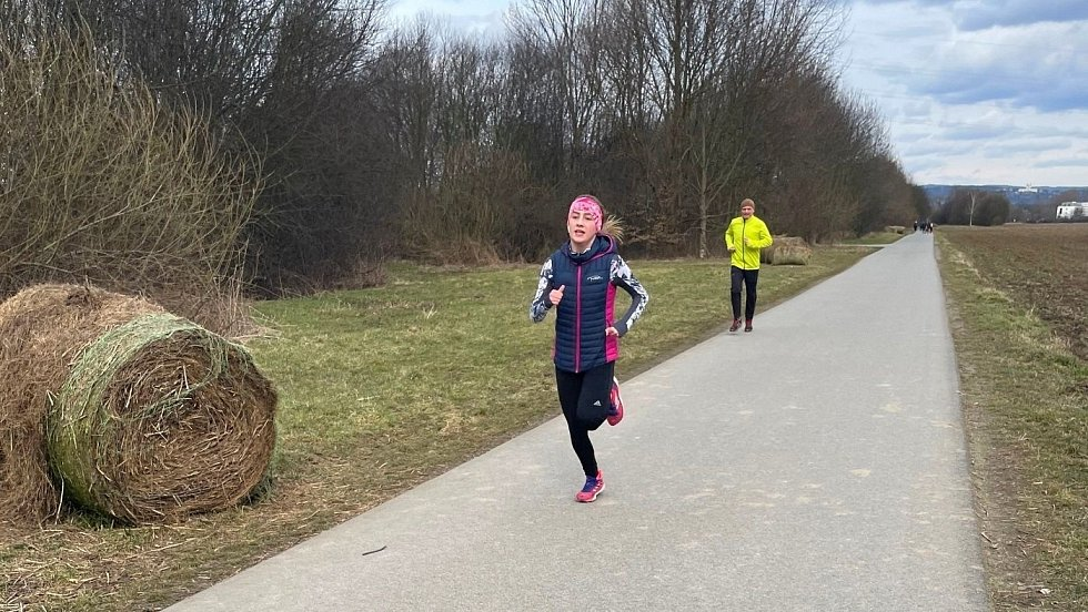 In-line stezka Hejčínské louky v neděli 14. března 2021lýnského potoka, sobota 13. března 2021