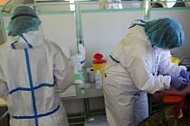 Odběry na testy kolektivní imunity. Ilustrační foto