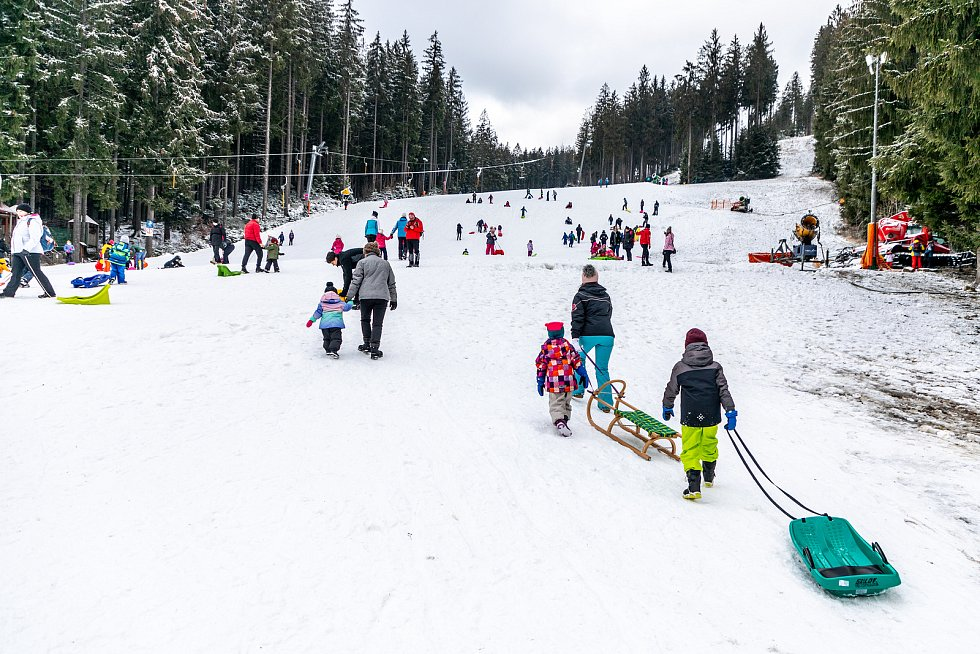 Skiareál Bílá v Beskydech, 9. ledna 2021