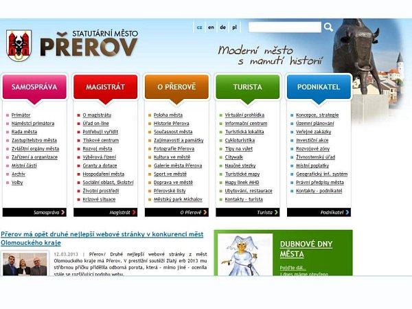 Web města Přerov