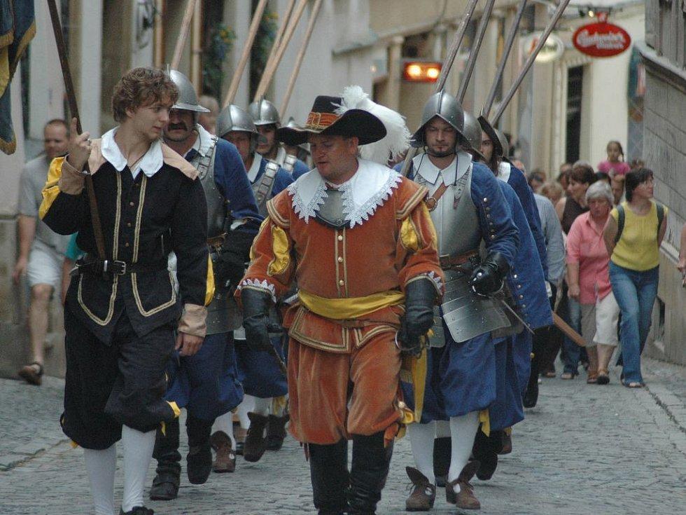 Průvod ke cti svaté Pavlíny v ulicích Olomouce