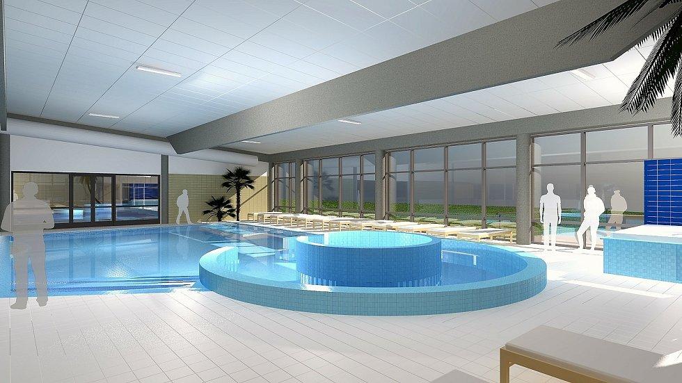 Krytý bazén Šternberk - vizualizace