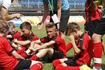 Zklamaní fotbalisté ZŠ Marjánka Praha.
