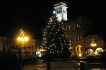 Vánoční strom Frenštát pod Radhoštěm.