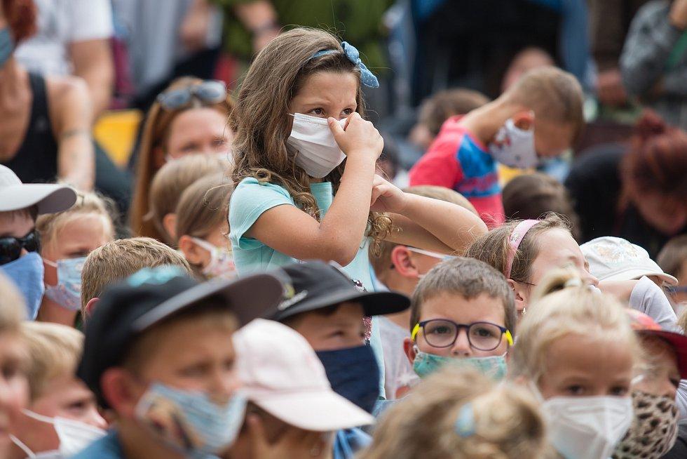 Koronavirová opatření v ČR v srpnu 2020. Telč Ilustrační foto