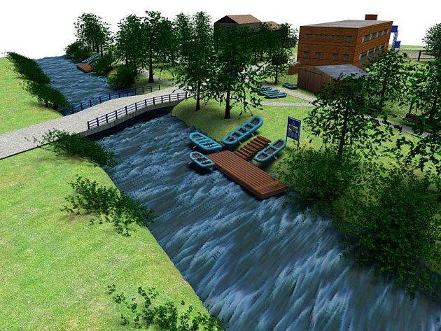 Vizualizace podoby kempů, které sdružení Krásná Morava chystá vybudovat podél Moravy
