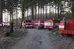 Požár lesa v Přemyslovicích