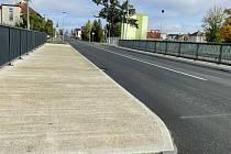 V Litovli stavbaři dokončili další etapu opravy průtahu městem. 16. října 2021