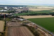 Sanační práce na bývalé skládce v Litovli-Nasobůrkách