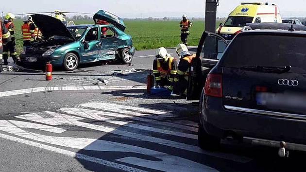 Nehoda u Drahanovic 19. dubna 2019