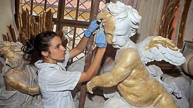 Restaurování Baziliky Navštívení Panny Marie na Svatém Kopečku.