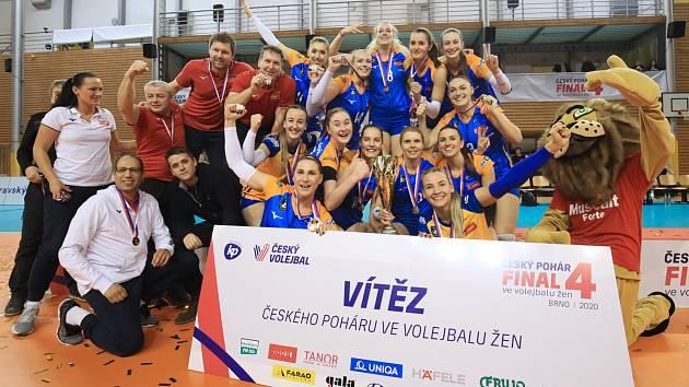 Volejbalistky Olomouce v Brně vyhrály Český pohár.