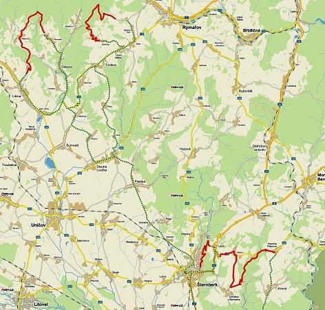 Mapa Rally Jeseníky 2014