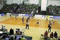"""Sportovní hala UP v Olomouci je """"domovem"""" extraligových volejbalistek."""