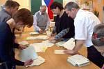 Sčítání hlasů ze druhého kola prezidentských voleb na Olomoucku