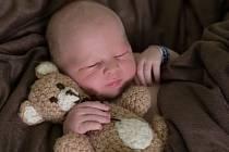 Tobiáš Tománek, Olomouc, narozen 15. února v Prostějově, míra 52 cm, váha 4300 g