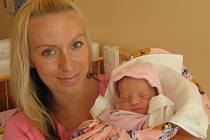 Terezka Rosmannová, Olomouc, narozena 27. května v Olomouci, míra 48 cm, váha 2740 g