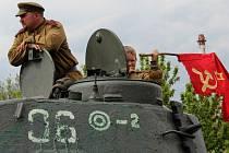 Oslavy osvobození Olomouce - vojenská historická technika na fortu na Nové Ulici
