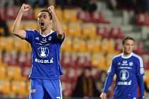 Michal Ordoš se raduje z druhého gólu.