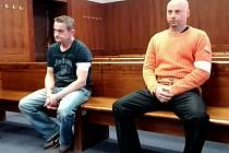 Obžalovaní Ľuboš Kotúček a Ján Sýkora před Vrchním soudem v Olomouci.
