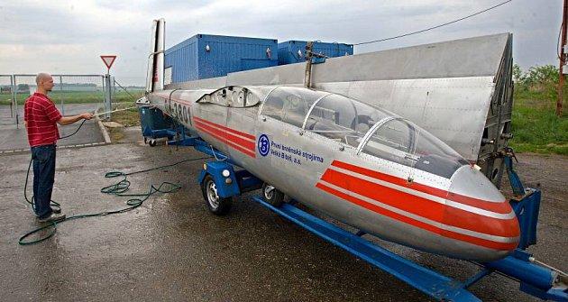 Experimetnální stroj L-13TJ je novým exponátem Leteckého muezea vOlomouci