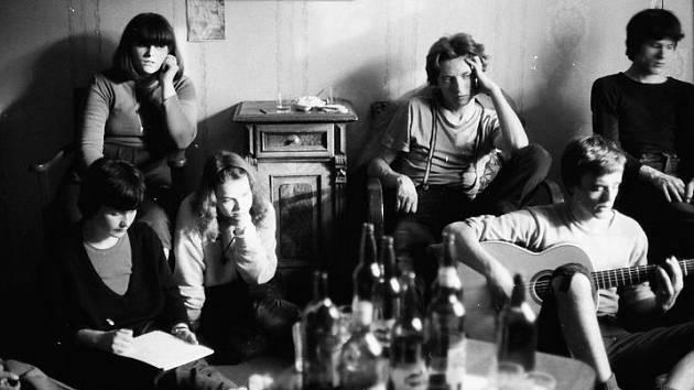 Marian Jahoda na bytovém setkání přibližně v roce 1983